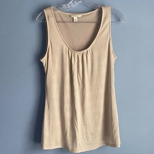 Banana Republic gold/tan sleeveless blouse shirt